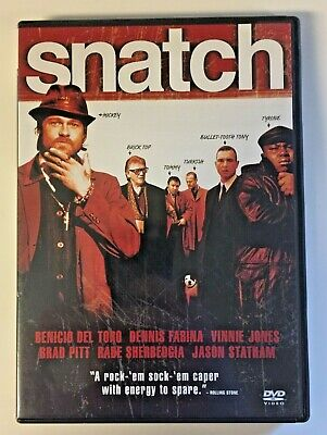 Snatch DVD Full + Widescreen Editions Guy Ritchie, Brad Pitt w/Special Features