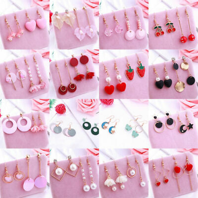 Two alloy Earrings Small atmospheric With Pairs antiallergic Earrings Fresh Of