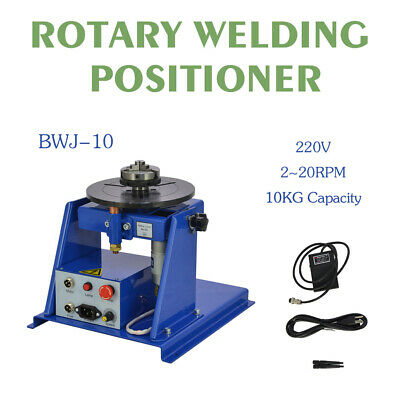 """220V Rotary Welding Positioner Turntable Table Mini 2.5"""" 3 Jaw Lathe Chuck"""
