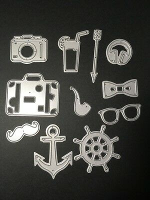 Camera, anchor, headphones etc metal dies - for use in most cutting systems