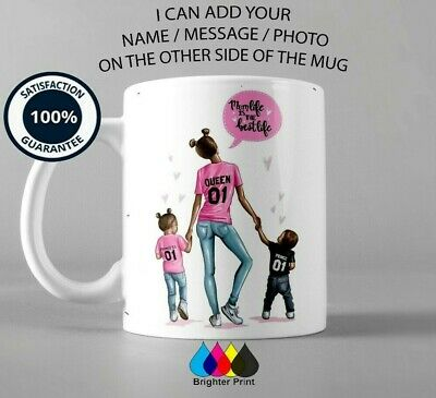 Personalised Mothers Day Gift Mug MUM LIFE IS THE BEST LIFE