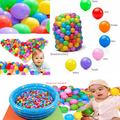 Ball Pit Balls Play Kids Plastic Baby Ocean Soft Toy Colourful Playpen Fun