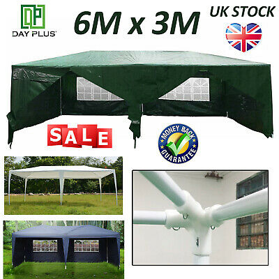 New 6x3 m Waterproof Outdoor PE 130g Garden Gazebo Marquee Canopy Party Tent NEW