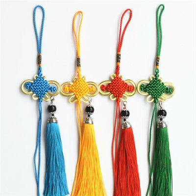 Chinese Knot Lobster Clasp Tassel Pendant DIY Craft Home Decor Car Hanging 1 Set