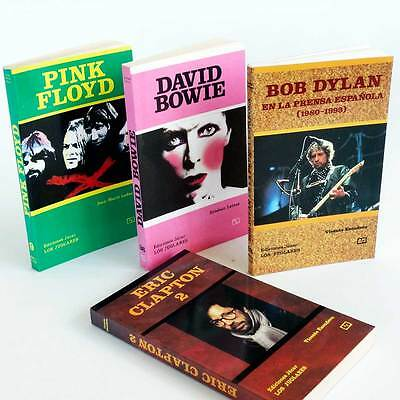 Lote 4 Libros Pink Floyd, Bowie, Bob Dylan, Eric Clapton. Nuevos