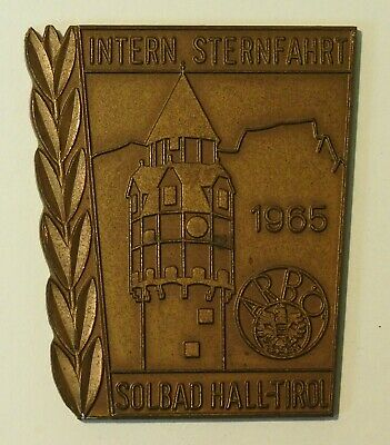 Auto-Plakette - CAR BADGE - Intern. Sternfahrt Solbad Hall-Tirol 1965 - ARBÖ (A)