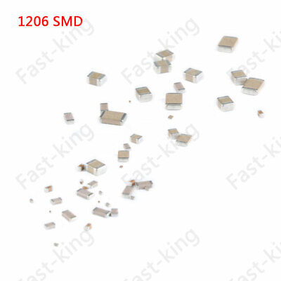 10pc 1206 10PF-47UF SMD Capacitor SMT Ceramic  Surface Mount Chip Capacitors
