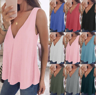Womens Camisole Vest Chiffon Shirts Ladies Tank Blouse Sleeveless N Cami Tops