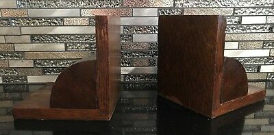 Art Deco wood bookends x 2