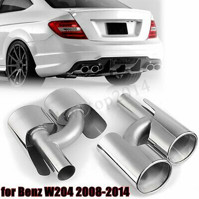 New Exhaust Ler Pipe Tips For Mercedes Benz C Cls W204 C300 C63 Amg