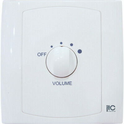100V  40W Volume Control With 24V Input ITC Plastic Wall Plate