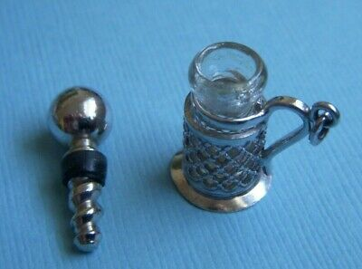 Vintage movable perfume bottle sterling charm