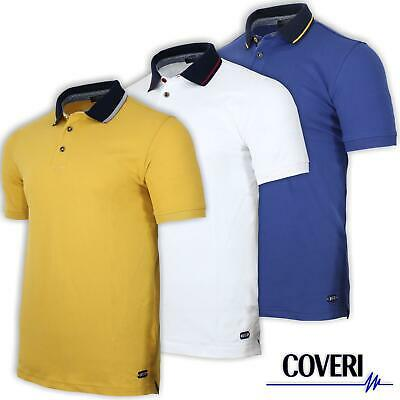 Polo Uomo Manica Corta 100% Cotone Piquet COVERI MOVING 3 Colori M L XL XXL 3XL