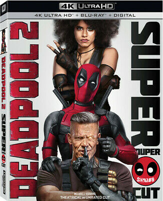 Deadpool 2 (3 Disc, With Blu-ray, Unrated Cut) 4K ULTRA HD BLU-RAY NEW