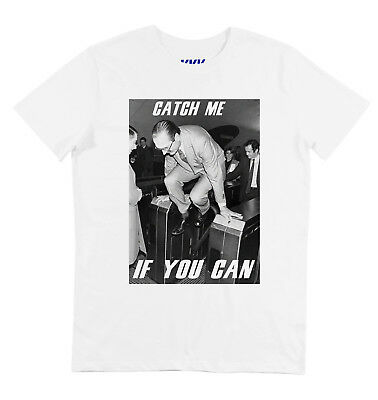 T-SHIRT JACQUES CHIRAC metro CATCH ME IF YOU CAN blanc // TAILLE-SIZE S-M-L-XL