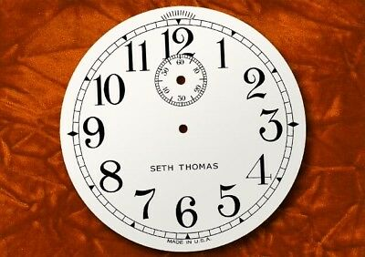SETH THOMAS Antique Clock Dial, Seconds dial, slow fast, logo, replacement dial