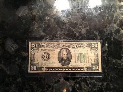 1934 A $20 Federal Reserve Note  -  Chicago