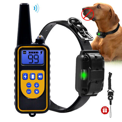 Dog Shock Collar Remote Trainers Waterproof Rechargeable Dog Training Collar