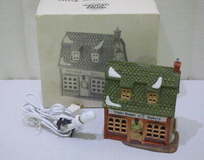Dept 56 Dickens Village Series Porcelain White Horse Bakery #5926-9 In Box