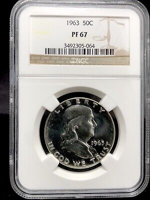 1963 50c Proof Franklin Half Dollar NGC PR67 (1287)