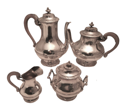 Sterling Silver Turn-of-the-Century French 4-Piece Tea & Coffee Service