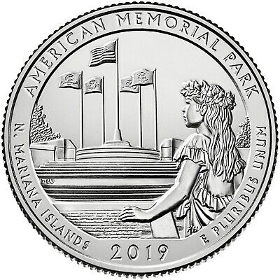 2019 P, D, S American Memorial Park Northern Mariana Island Quarter IN STOCK NOW