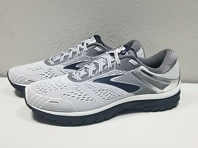 8ab5be5349a2b Mens Brooks Adrenaline GTS 18 Size 13 White Gray Athletic Running Shoes