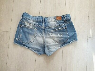 07b28cbc Zara Light Wash Distressed Denim Hotpant Shorts Mini UK Size Eur 34 UK Size  6