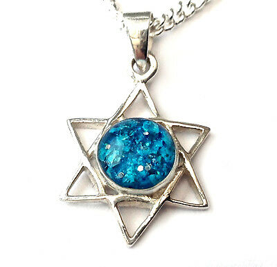 solid stirling silver custom cremation jewellery ashes Star of David pendant