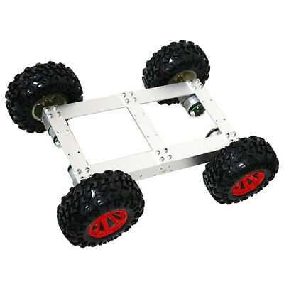 4WD Smart Car Tank Chassis Kit DIY Robot with 12V 330rpm Motor Red Wheel