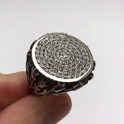 Islamic Jewelry 99 Names of Allah (C.C) Tulip 925K Sterling Silver Men's Ring