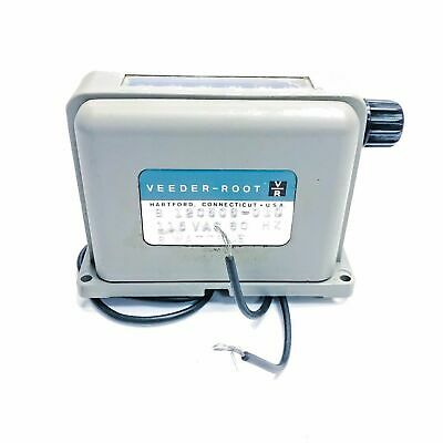 Veeder-Root 120506-010 Electromechanical Counter, 6-Digit, 115VAC, Surface Mount