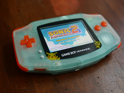 CUSTOM GBA BACKLIT Rechargeable Mod GLOW IN THE DARK Pikachu Edition!!