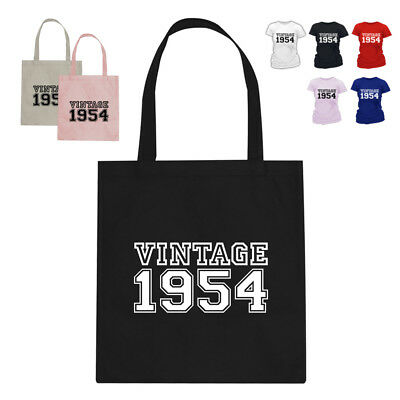 d4001478 VINTAGE 1954 65TH Birthday Gift Tote Bag Many Colours - $10.17 ...