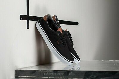 bcd7c71184 VANS ERA 59 C L Black Mens Size 10.5 Sneakers Leather New In Box ...