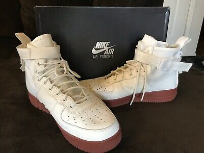 low priced 05da8 ea55e NIKE SF AF1 Mid 917753 100 IVORY Red Gum 11.5