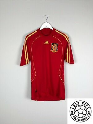 16eb0b6bb SPAIN 09 10 HOME Football Shirt (XL) Soccer Jersey Adidas World Cup ...