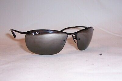 cbc55de49e6 New RAY BAN Sunglasses 3542 002 5L BLACK SILVER MIRROR POLARIZED AUTHENTIC