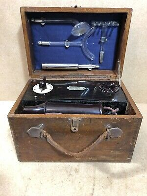 Antique Violet Ray Wand Machine Rogers Electro Medical Vitalator Electric Shock