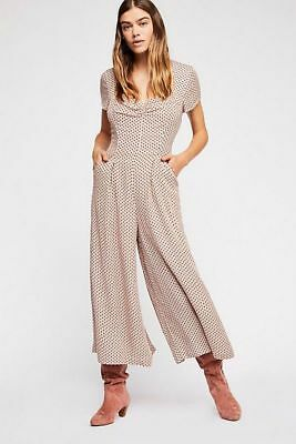 b8b49d94691 FREE PEOPLE NWT Size XS Chleo Embroidered crochet CREAM Jumpsuit NEW ...