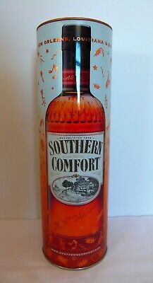"""Southern Comfort New Orleans, Louisiana Collectible Round Metal Tin 11 x 3.5"""""""