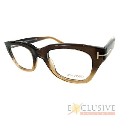 b7db5ae9e04ce NEW TOM FORD Tf5178 Eyeglasses Color 050 Brown Gradient Size 50-21 ...