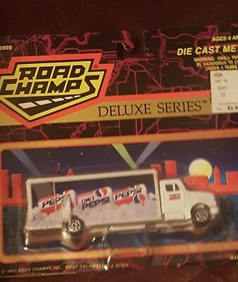 Road Champs Deluxe Series Diet Pepsi Delivery Tuck 1993 Die Cast Metal New