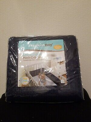 Breathable Baby mesh solid Navy Blue Crib Liner Bumper