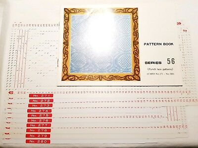 Pc179 Brother Knitting Machine Patterns Punch Cards Series 56 271-280 Punch Lace