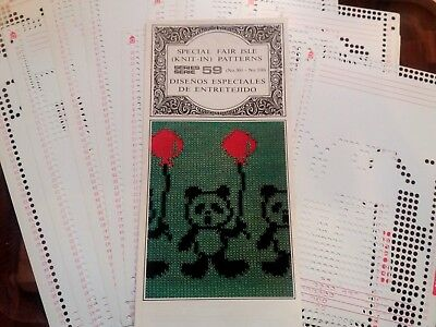 Pc89 Brother Knitting Machine Punch Card Pattern Set 59 Fair Isle 301-310 X 10