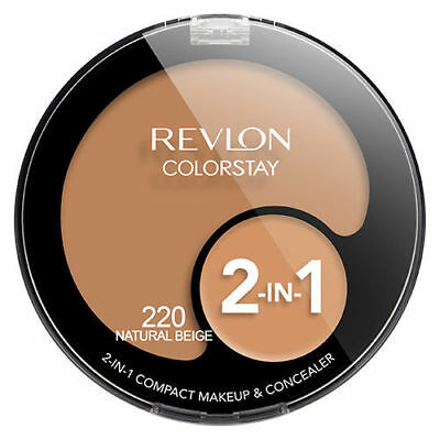Revlon Colorstay 2 in 1 Compact & Concealer Makeup - 220 Natural Beige