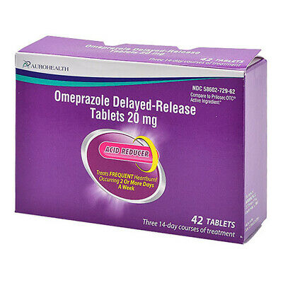 Omeprazole 20mg 42 COUNT TABLETS by AUROHEALTH