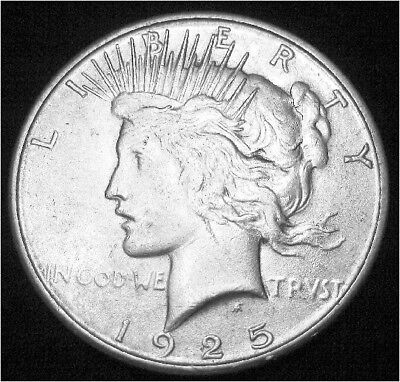 1925-S Peace Dollar --- Almost Uncirculated +++ --- Looks BU !