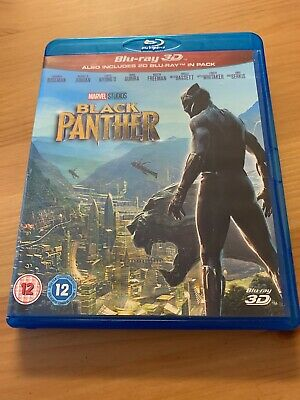 BLACK PANTHER Like New 3D (and 2D) BLU-RAY Movie 2018 Marvel MCU Region-Free